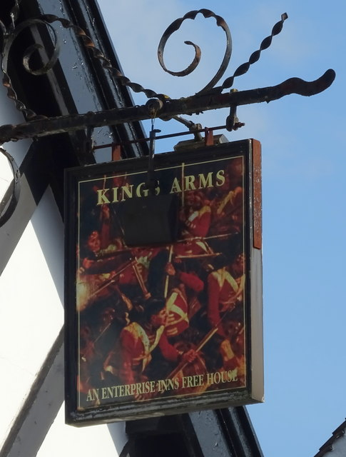 Sign for the Kings Arms, Eccleshall
