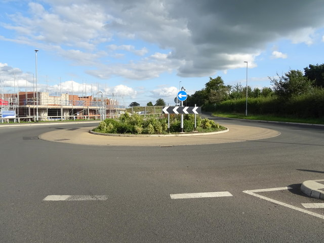 Roundabout on Stafford Road, Eccleshall