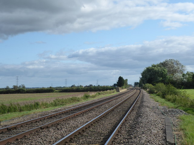 View from the foot crossing at Tetheringrass Lane