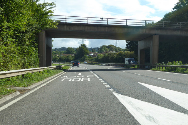 Exit to eastbound A35 from eastbound A30