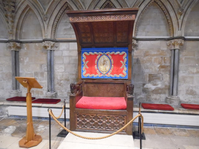 Dean's Throne inside the Chapter House, Lincoln Cathedral