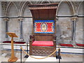 SK9771 : Dean's Throne inside the Chapter House, Lincoln Cathedral by David Hillas