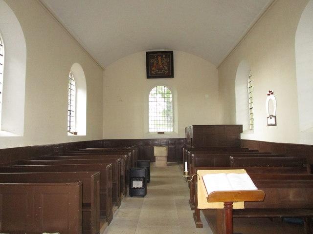 All Saints' church, Pickworth. Interior looking west