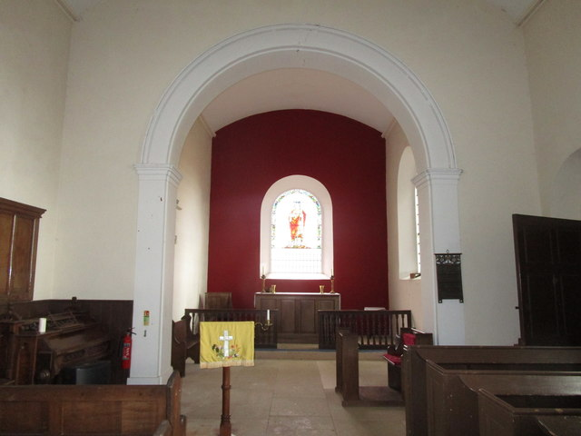 All Saints' church, Pickworth. Interior looking east