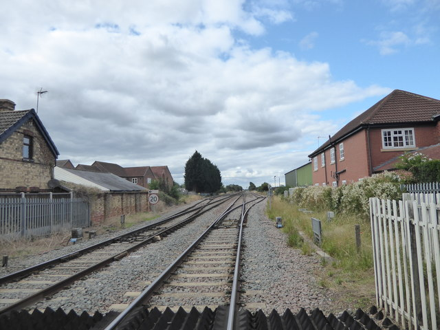 The view north from Beckingham Level Crossing