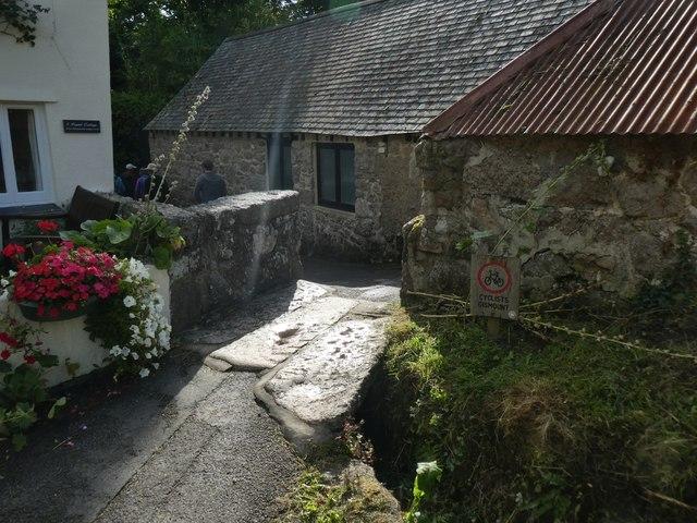 Granite clapper bridge, Lustleigh