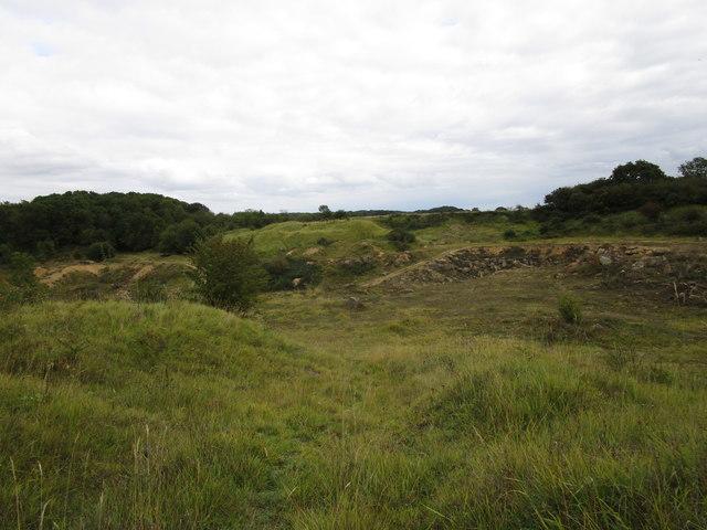 Disused limestone quarry near Clipsham