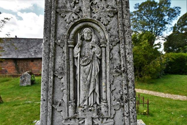 Dummer, All Saints Church: Victorian memorial in the churchyard (detail)