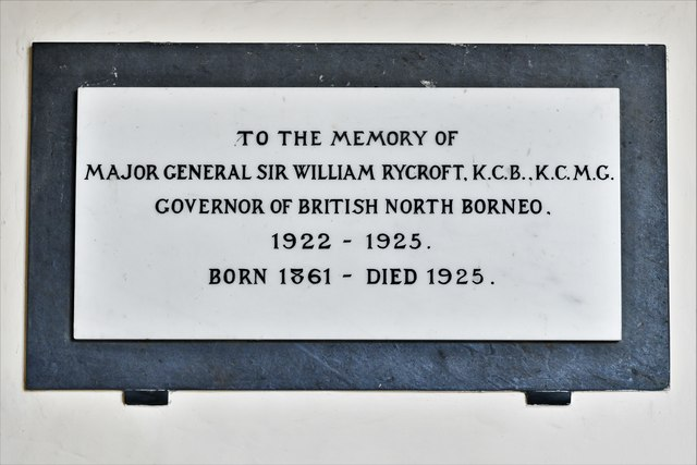 Dummer, All Saints Church: Sir William Rycroft memorial plaque