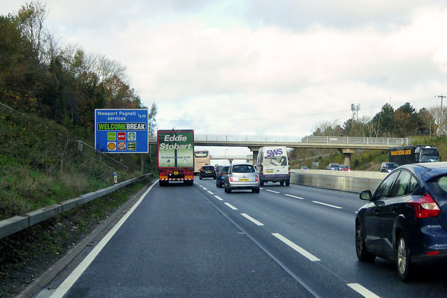 M1 near to Newport Pagnell