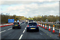 SP8544 : M1 north of Newport Pagnell by David Dixon