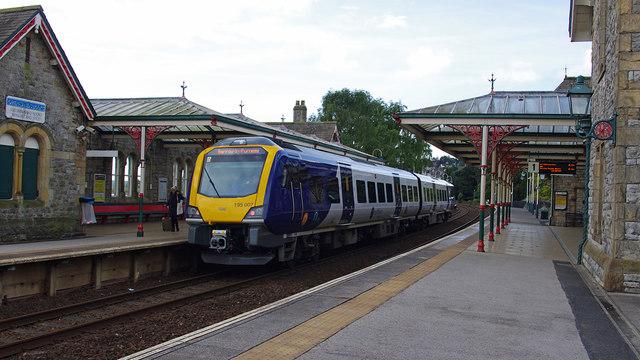 Train at Grange-over-Sands