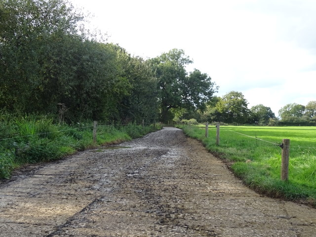 Concrete farm track, Cooksland