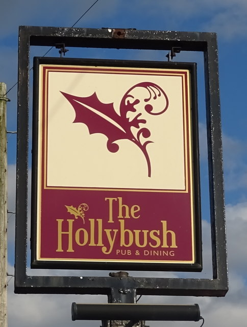 Sign for the Hollybush, Seighford