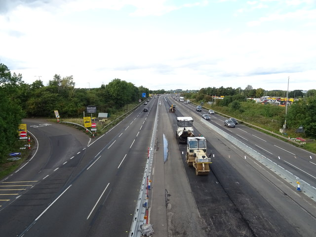 Roadworks on the M6 Motorway near Doxey