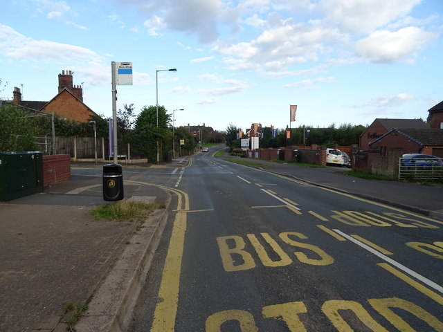 Bus stop on Doxey Road