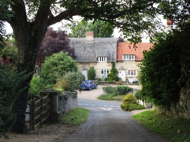 Church Lane and the Jackson Stops Inn, Stretton