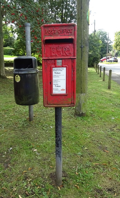 Elizabeth II postbox on High Street, Eccleshall