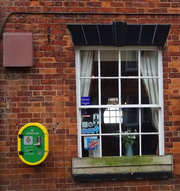 Defibrillator on The Ship Inn, Sewerby