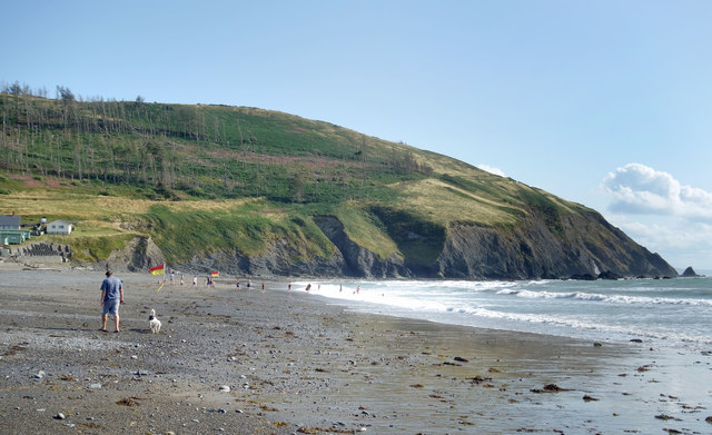 Beach and Cliffs, Clarach Bay