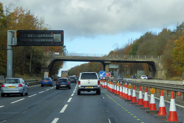 Bridge over the M1 near to Little Linford