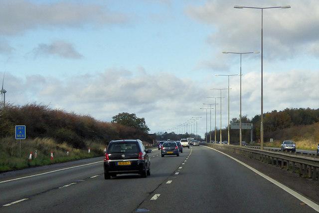 Northbound M1, near to Hartwell