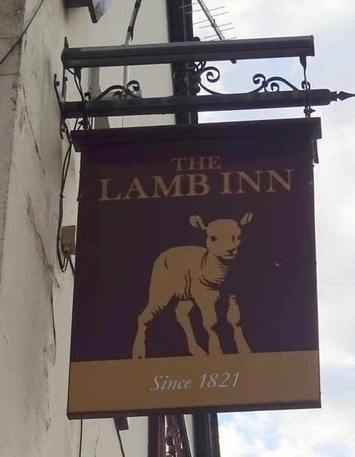 Sign for the Lamb Inn, Stafford
