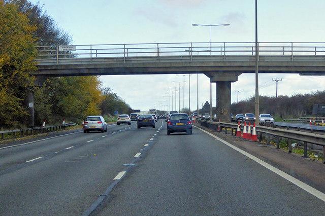 Quinton Green Bridleway Bridge over the M1