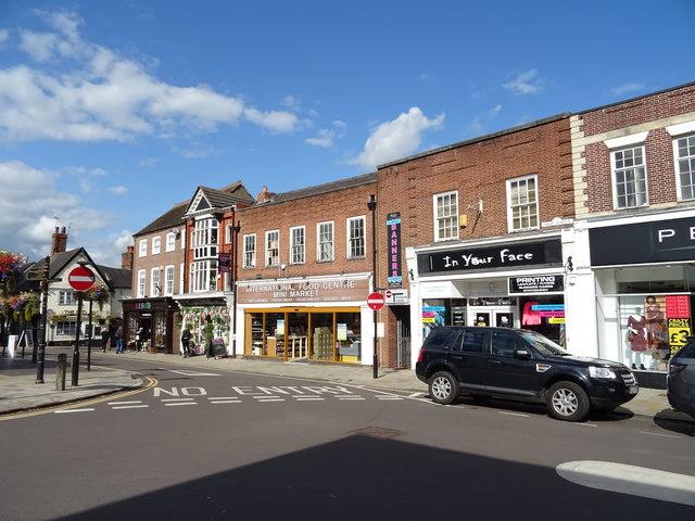 Shops on High Street, Market Drayton