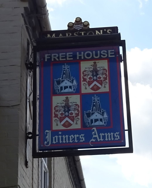 Sign for the Joiners Arms, Market Drayton