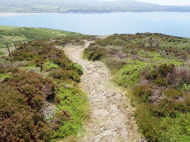 Rocky path down Pen y Bal