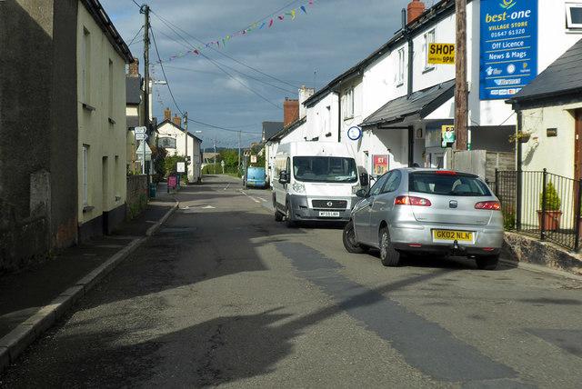 Main street in Tedburn St Mary