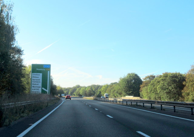 A4130 turning off A34 southbound