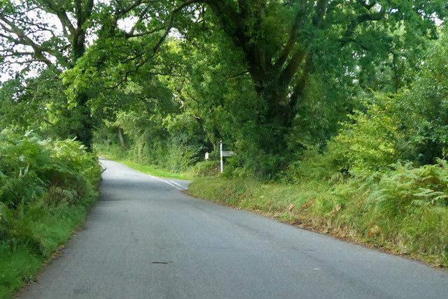 Lane junction ahead