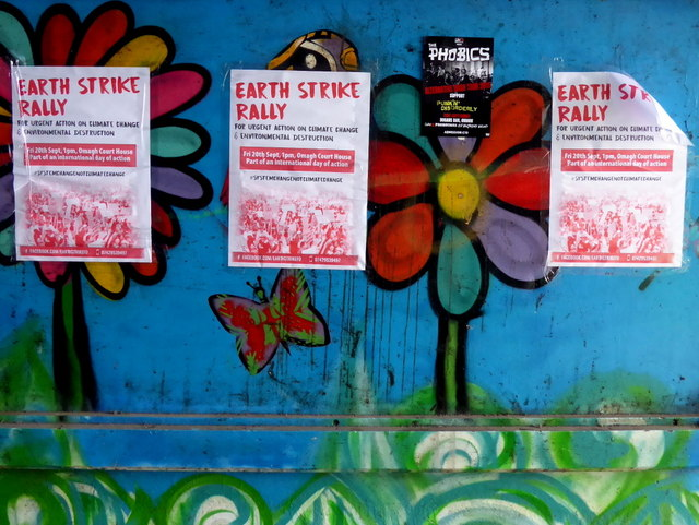 Earth strike rally posters, Omagh