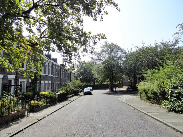 View down Summerhill Street