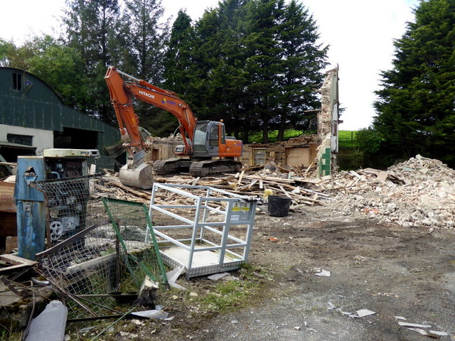 Shop demolished, Gortnacreagh