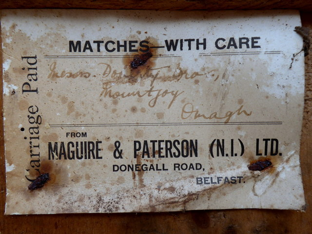 Label from Maguire & Patterson (N.I.) Ltd. (1)