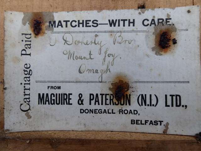 Label from Maguire & Patterson (N.I.) Ltd. (2)
