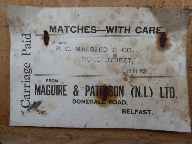 Label from Maguire & Patterson (N.I.) Ltd. (3)