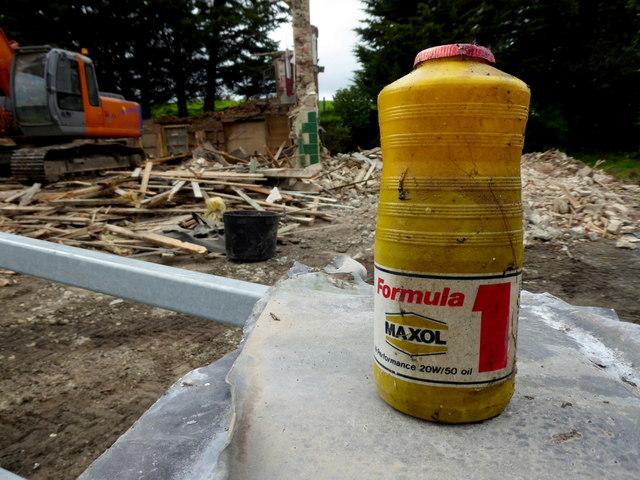 Bottle of 20/50 high performance oil, Gortnacreagh