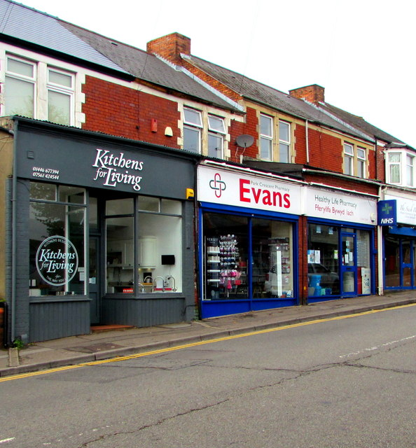 Kitchens for Living and Evans Park Crescent Pharmacy, Barry