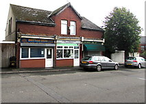 ST1067 : Row of three shops, Park Crescent, Barry by Jaggery