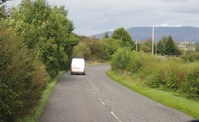 Bend in the B30 (Newry Road) between Crossmaglen and Creggan