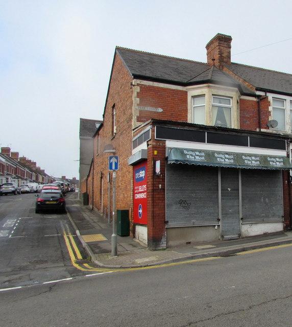 Former Selleys Newsagents shop on a Barry corner