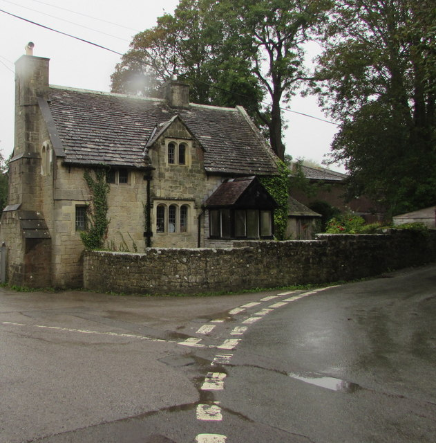 Grade II Listed lodge at the entrance to St Donats Castle and College, Vale of Glamorgan