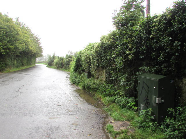 Dark green cabinet, Dimfields Road, St Donats