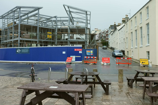 New building, Swanage