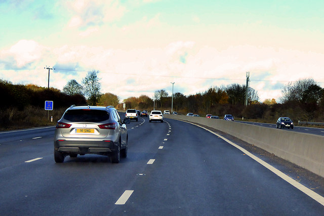 Northbound M1 at Driver Location A117.3 by David Dixon
