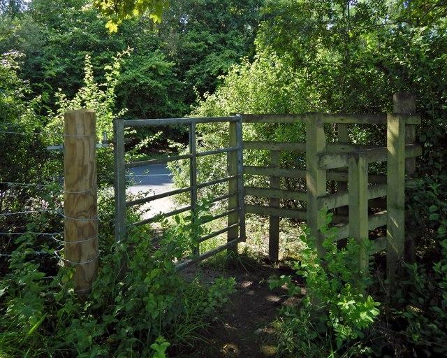 Gate leading to Hawkhead Woodland